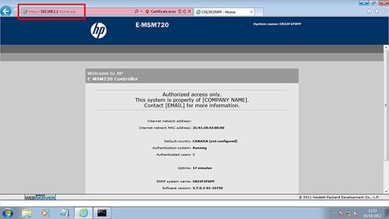 E-MSM720 - Web Console
