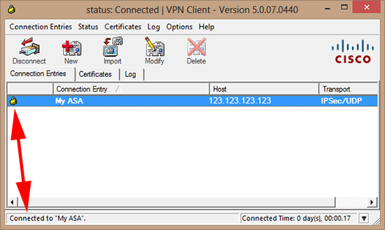 Cisco VPN Client Software working on Windows 8