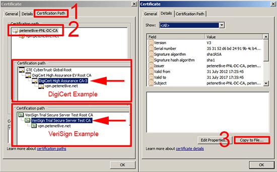 ASA Certificate Examples
