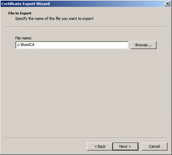 Export Certificate to Text File