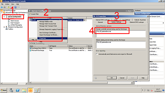 Locate Exchange Domain Controller