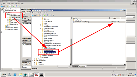 Group Policy NTP Server Settings
