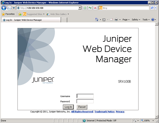 Juniper Web Device Manager