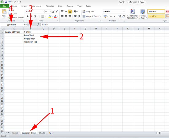 Excel Drop Down