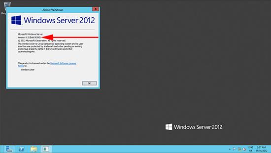 Windows 2012 Version