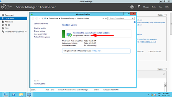 Windows Server 2012 Windows Updates