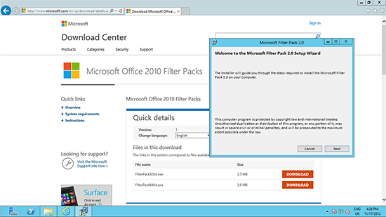 Office 2010 Filter Pack