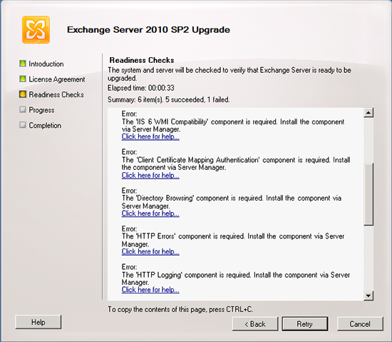Exchange 2010 SP2 Prerequisites