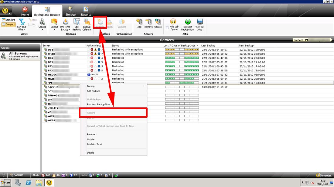 PeteNetLive - KB0000721 - Symantec Backup Exec 2012 - Restore ...