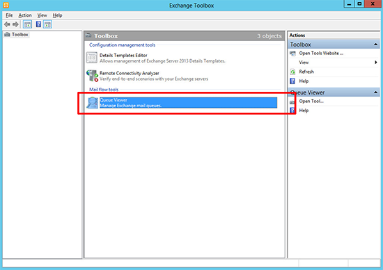 Exchange 2013 Queue Viewer