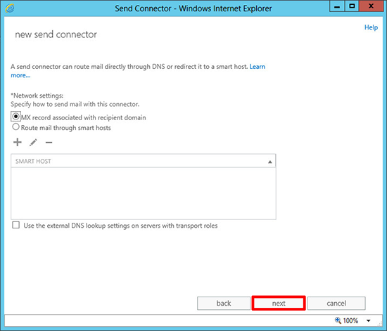 Exchange 2013 Add Smart Host