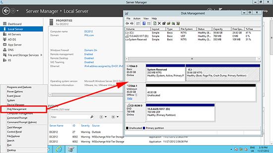 Server 2012 Disk Management