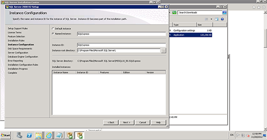 SQL Express Instance Veeam