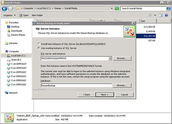 Veeam SQL Instance