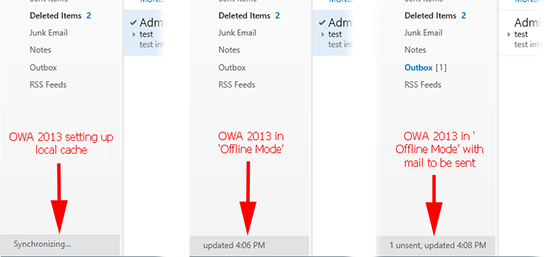 OWA 2013 Synchronizing