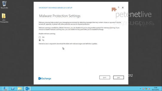 Exchange 2013 Disable Malware Protection