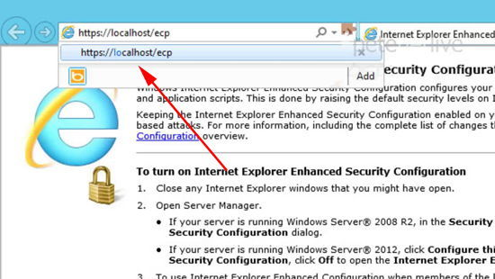 URL for Exchange2013 Management