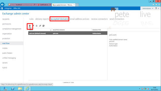 Add a New Domain name to Exchange 2013