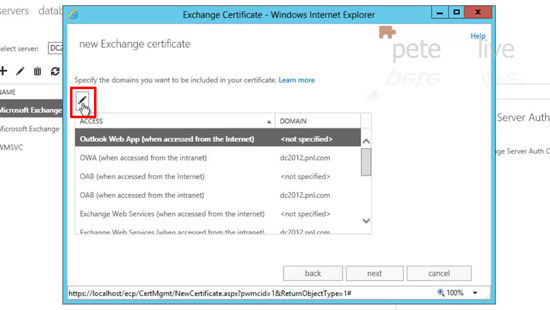 Edit Certificate names for Exchange 2013