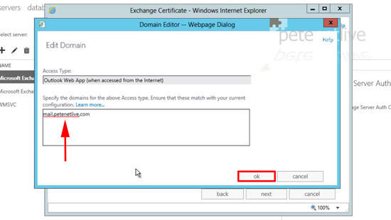 OWA Address for Certificate