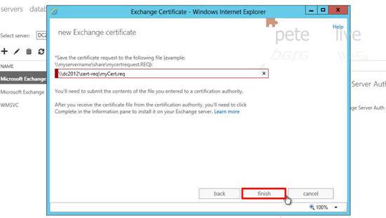 2013 Certifcate Request