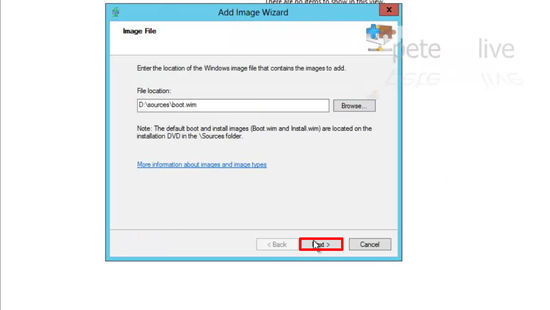 import image WDS
