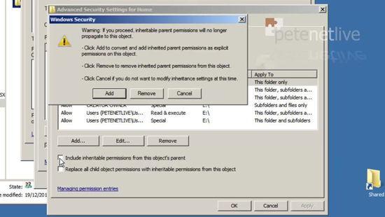 Copy permissions