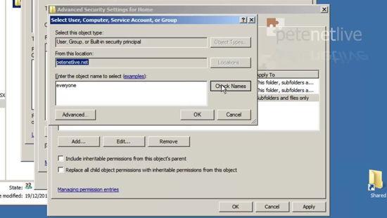 Root Home Folder NTFS