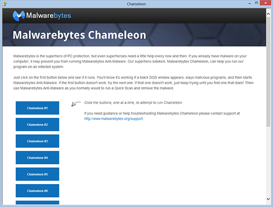 malwarebytes chameleon install options