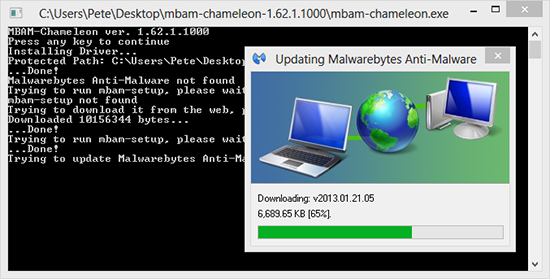 malwarebytes updating