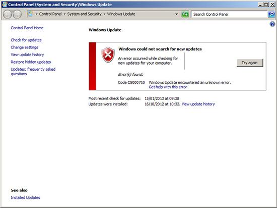 Update Error C8000710