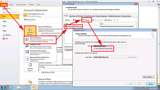 Outlook 2010 Turn Off Cached Mode