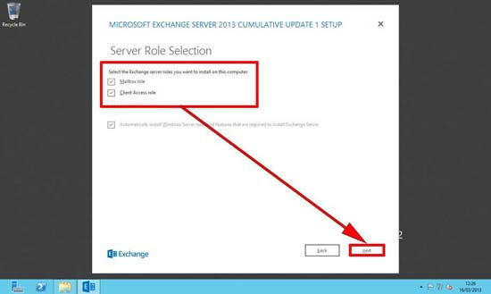 Exchange 2013 Server Role Installation