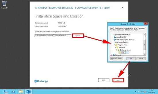 Exchange 2013 Install Location
