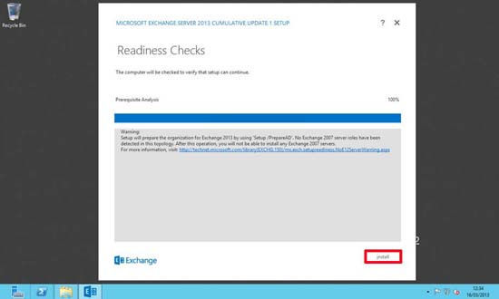 Exchange 2013 Rediness Checks