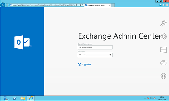 Exchange 2013 Exchange Admin Center