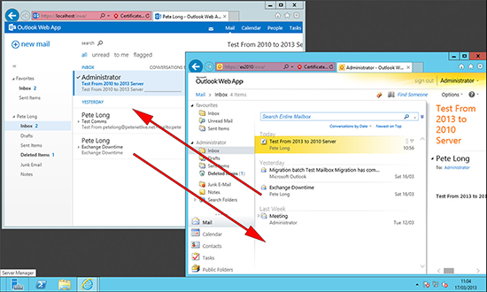 Exchange 2013 Check Internal Mail Flow