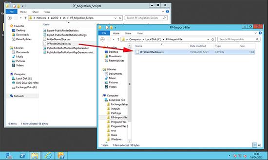 Public Folder Migration File 2013