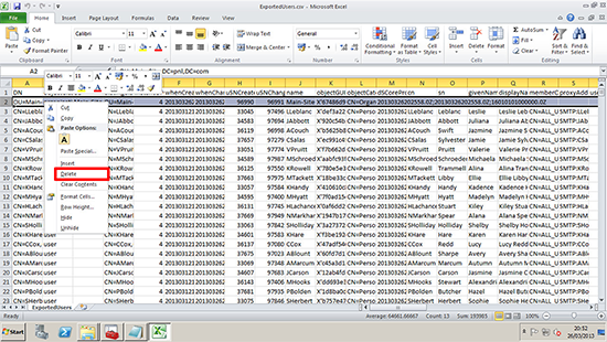 Edit csv file