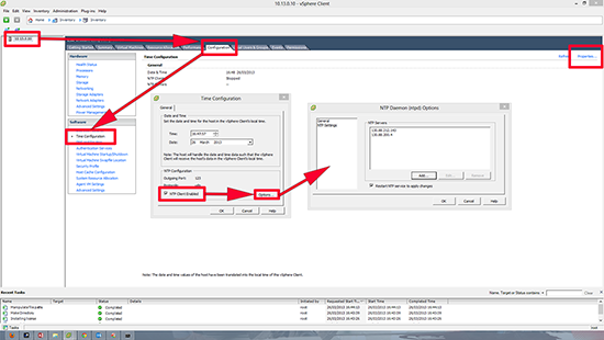 ESX NTP Time Settings