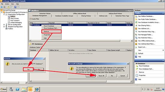 Delete Public Folder Database