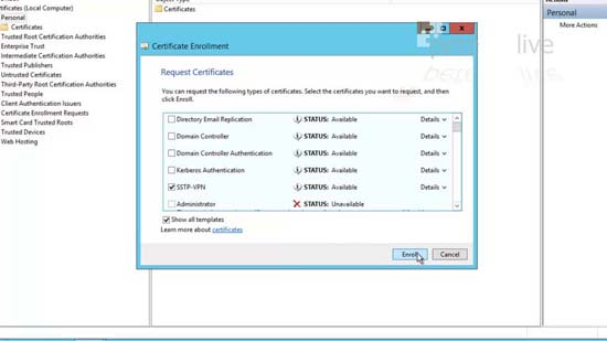 SSTP Certificate