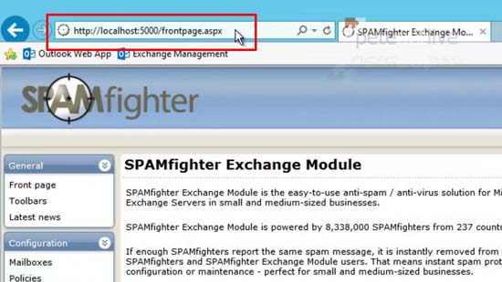 Spamfighter port number