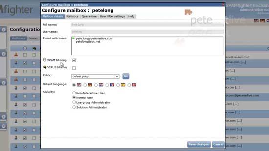 Mailbox properties