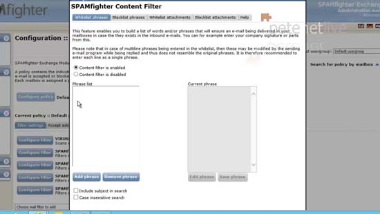 Spam content filter 2013
