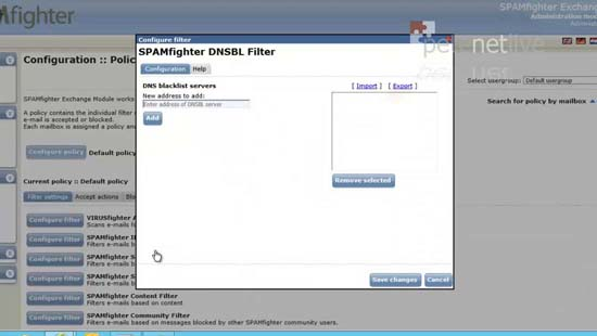 Exchange 2013 DNSBL filter