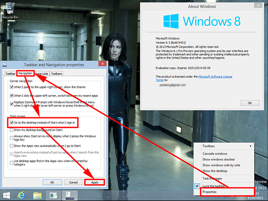 Windows 8 Bypass Metro Interface