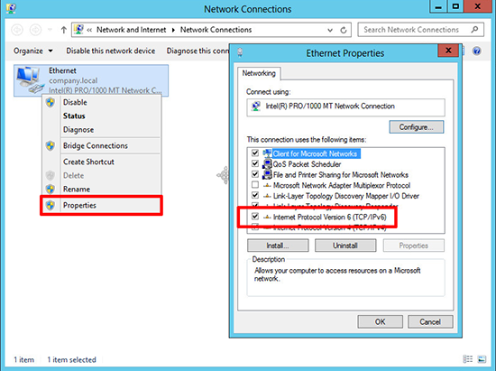 Server 2012 Change Network Profile