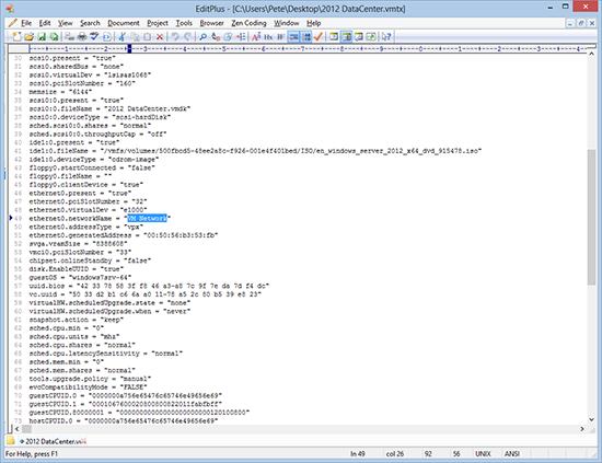 Edit VMware Temeplate