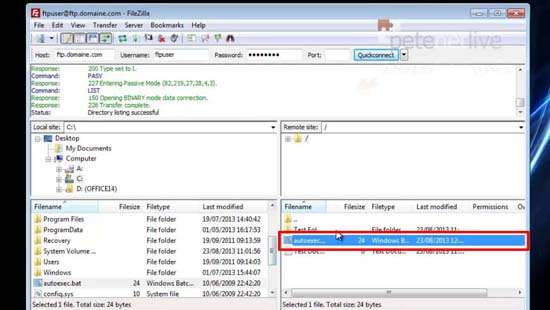 Using FileZilla